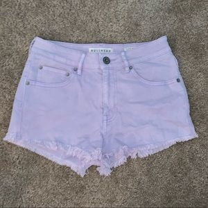 Purple high wasted shorts
